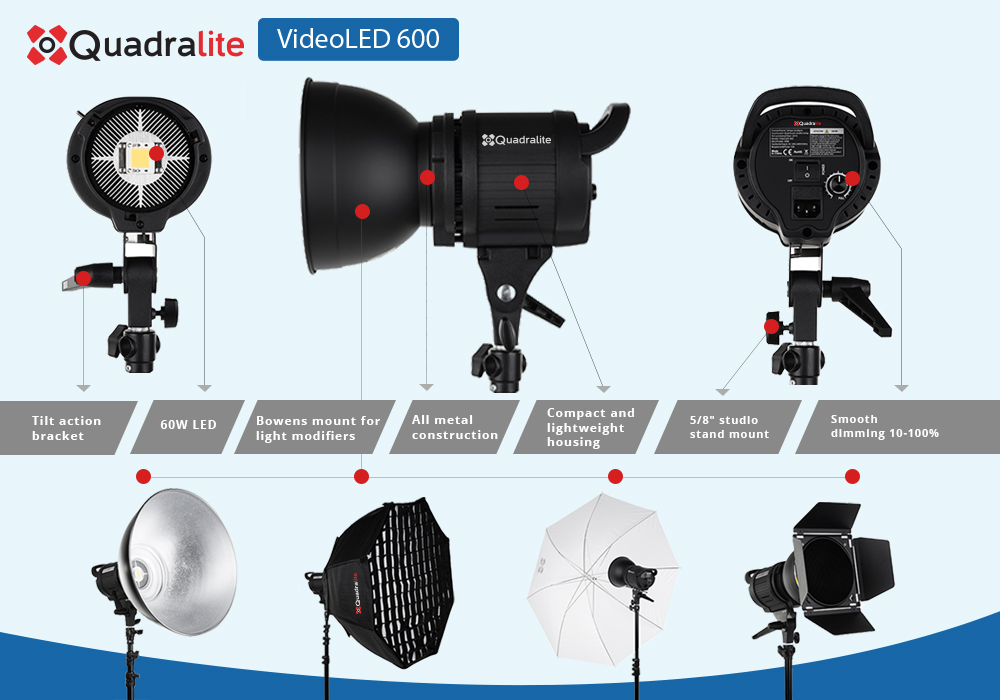 Quadralite VideoLED 600 - continuous light